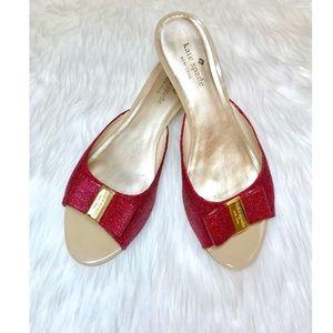 KATE SPADE Dorothy Glitter Sandals!